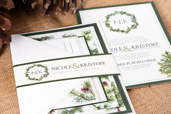 How To Start A Wedding Invitation: DEPOSIT TO START Spruce Forest Suite