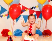 mickey mouse cake smash outfit, mickey mouse photo prop, first birthday outfit mickey birthday, red yellow and black birthday outfit