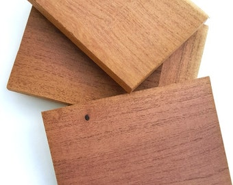 Texas Mesquite Scroll Saw Balnks Wood Tiles Wood Crafters Blanks Lumber Woodworking Supply Set of 4 ssb#18
