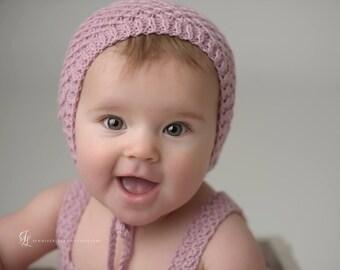6-9M Size Rompers & Bonnet,  Photo Prop, Pink