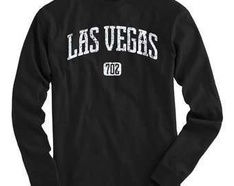 LS Las Vegas 702 Tee - Long Sleeve T-shirt - Men and Kids - S M L XL 2x 3x 4x - Las Vegas Shirt, Nevada - 4 Colors