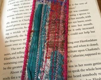 Mixed Media Textile Bookmark