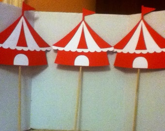 Cute Circus Centerpiece Set of Three