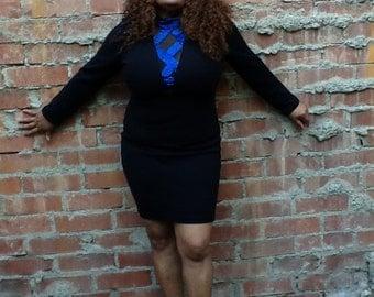 Vintage 80's Bodycon Sweater Dress