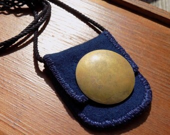 Sunholder - Textile Necklace / Worry Stone Carrier / Wearable Art