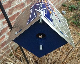 Memphis Tigers Rustic License Plate Birdhouse
