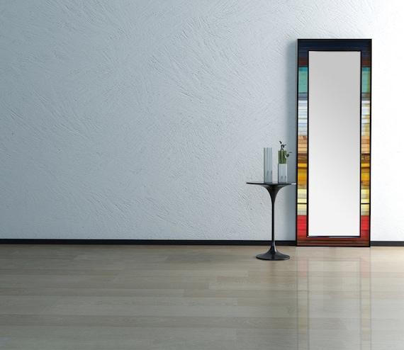 Reclaimed Wood Leaner Mirror - 70x25 - Floor Mirror -