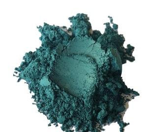 Matte Teal Blue  Makeup Eyeshadow  loose  Eye Shadow   Mineral Makeup Vegan Natural Glitter Gold Kizmet