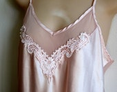 Gorgeous nightgown pale pink satiny long length sexy lingerie size M