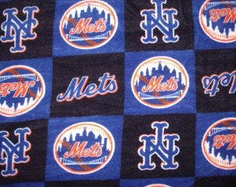 1 yard-Licensed MLB fleece fabric-Mets