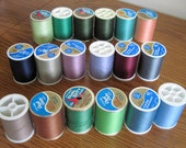 18  Coats Dual Duty Plus Polyester Cotton Thread Spools 300-325 Yards Assorted Colors Lot 1