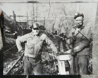 Vintage Occupational Snapshot - Photo - Coal Miners - Industrial