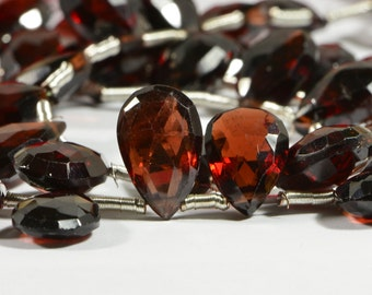 Garnet Faceted 4 Beads Natural Gemstone Beads Jewelry Making Supplies