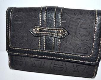 Vintage Etienne Aigner wallet fabric leather designer wallet  Valentines gift  organizer Excellent condition