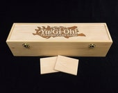 Yu-Gi-Oh Engraved Deck Box with Hinges & 2 Latches-16 3/4x4 1/2 x4 1/4