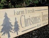 Christmas Sign. Christmas Trees for Sale Sign. Christmas Decor. Merry Christmas. Christmas Gift