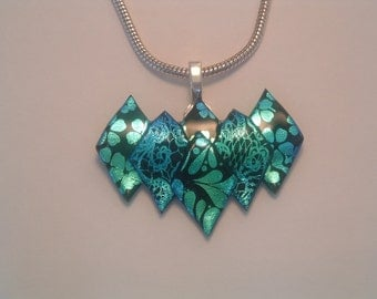 Handcrafted Dichroic Glass Pendant
