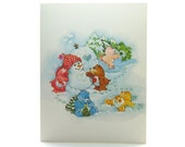 Care Bears Happy Holidays Christmas Greeting Card with Snowman & Igloo