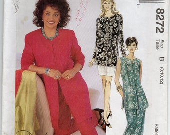 Unlined Jacket Or Vest Pull On Pants And Skirt Size 8 10 12 Sewing Pattern 1996 Daphne Maxwell Reid McCalls 8272