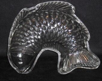 Glass Fish Jello Mold