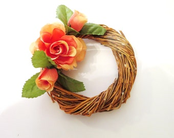 Flowers  wreath , Roses decoration,daisy Wreath, summer Wreath, Front Door Wreath