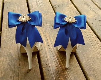 Wedding Shoe Clips,Bridal Shoe Clips,  MANY COLORS, Satin Bow Shoe Clips, Womens, Bridesmaids, Clips for Wedding Shoes, Bridal Shoes