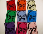 One large skull canvas patch in any color you choose....FREE SHIPPING USA
