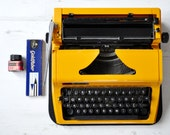 Yellow Erika Daro typewriter, 1970s