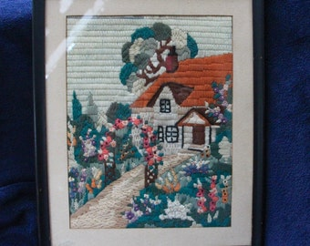 Vintage embroidery picture
