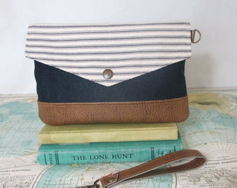 Country road - Envelope clutch // Handbag // Wristlet // Clutch // Phone wallet // Purse organizer // Travel pouch // Vegan // Ready to ship