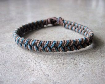Thick Hemp Bracelet, Nautical Bracelet, Ocean Bracelet, Natural Bracelet