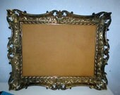 baroque vintage picture frame ornate shabby chic wedding message board leaf detail photo frame