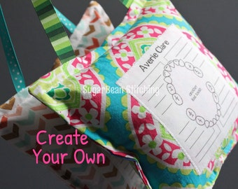 Create Your Own Girly Tooth Fairy Pillow. Write On Tooth Chart. Optional Personalization. Multiple Fabrics to Choose From