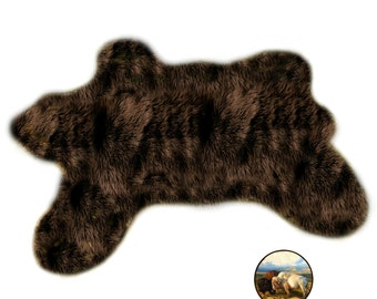 fake bear skin rug etsy. Black Bedroom Furniture Sets. Home Design Ideas