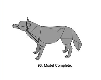 Origami Wolf (diagrams)