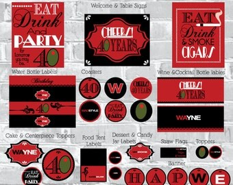 Mad men Birthday Printable Party Pack