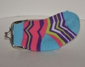 Colorful Knit Sock Coin Purse