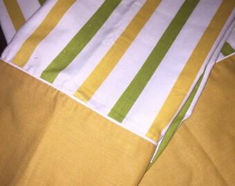 Vintage Striped Pillowcase Pair
