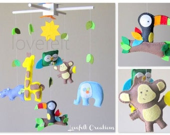 Baby Mobile - Jungle Mobile - baby mobile animals - forest mobile