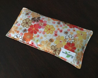 Natural Hot/Cold Therapy Flaxseed Bag Large Flowers