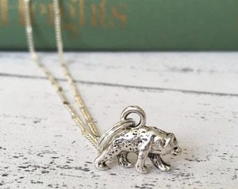 Bear necklace, mama bear necklace, skier, polarbear necklace, friendship necklace, best friend necklace, mamabear, momma bear necklace