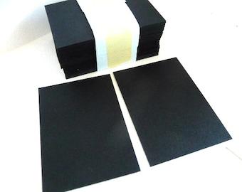Gift Tags, Blank gift tags, black gift tags, black hang tags, 74 mm, card making, black tags, black, small cards, blank cards, black cards,
