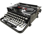 Glossy Vintage 1930s Royal Portable Typewriter, Refurbished, Excellent Condition