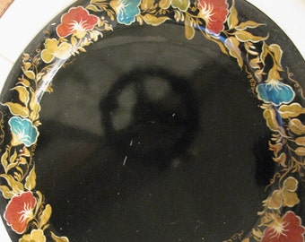 Beautiful Huge Tole Painted Serving Tray