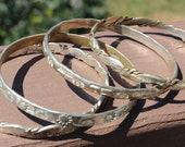 Lot of 4 Mexican Sterling Silver Bangle Bracelets