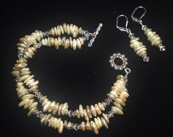 Freshwater pearl double strand