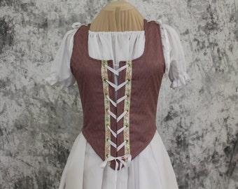 Pink Rose Renaissance Costume-Halloween Costume-Medieval Skirt-LARP-Ren Fair-Steampunk-SCA-Adult Costume-Fantasy Skirt-Item #228
