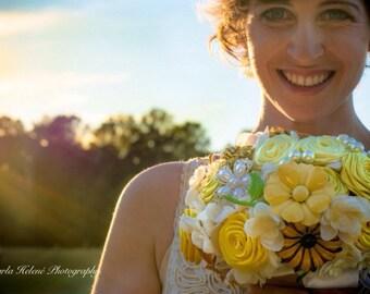 Sale/Yellow Daisy Brooch Bouquet, Yellow brooch bouquet, brooch bouquet,READY TO SHIP