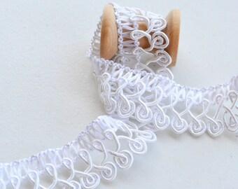 "2 1/2 yd White Vintage Crochet Lace -3/4"" width -White lace -White Vintage Trim -White Trim"