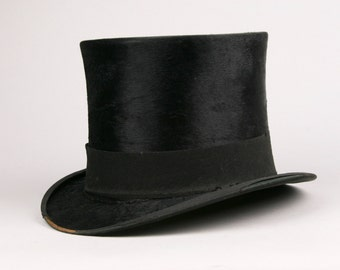 Authentic Antique Top Hat  Collins and Fairbanks Boston Mass.